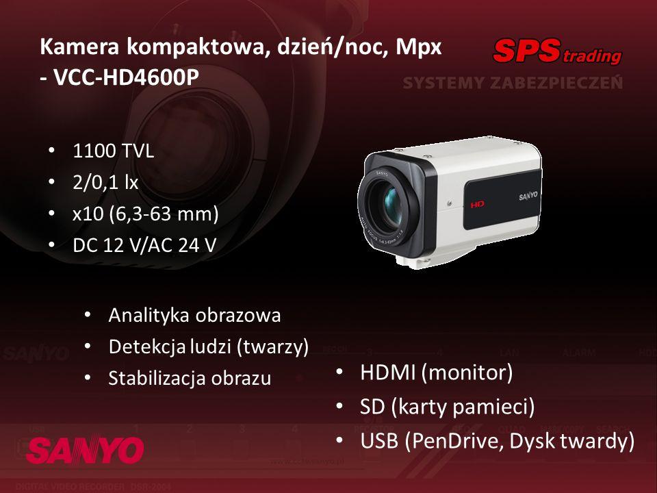 Kamera kompaktowa, dzień/noc, Mpx - VCC-HD4600P