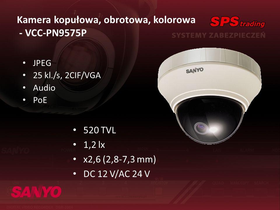 Kamera kopułowa, obrotowa, kolorowa - VCC-PN9575P