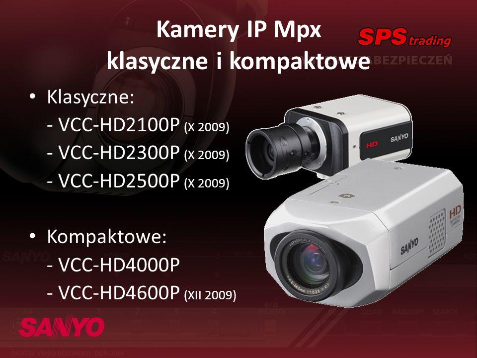 Kamery IP Mpx klasyczne i kompaktowe