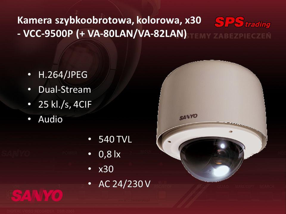 Kamera szybkoobrotowa, kolorowa, x30 - VCC-9500P (+ VA-80LAN/VA-82LAN)