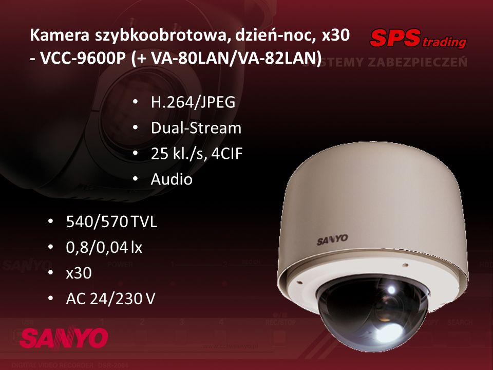 Kamera szybkoobrotowa, dzień-noc, x30 - VCC-9600P (+ VA-80LAN/VA-82LAN)
