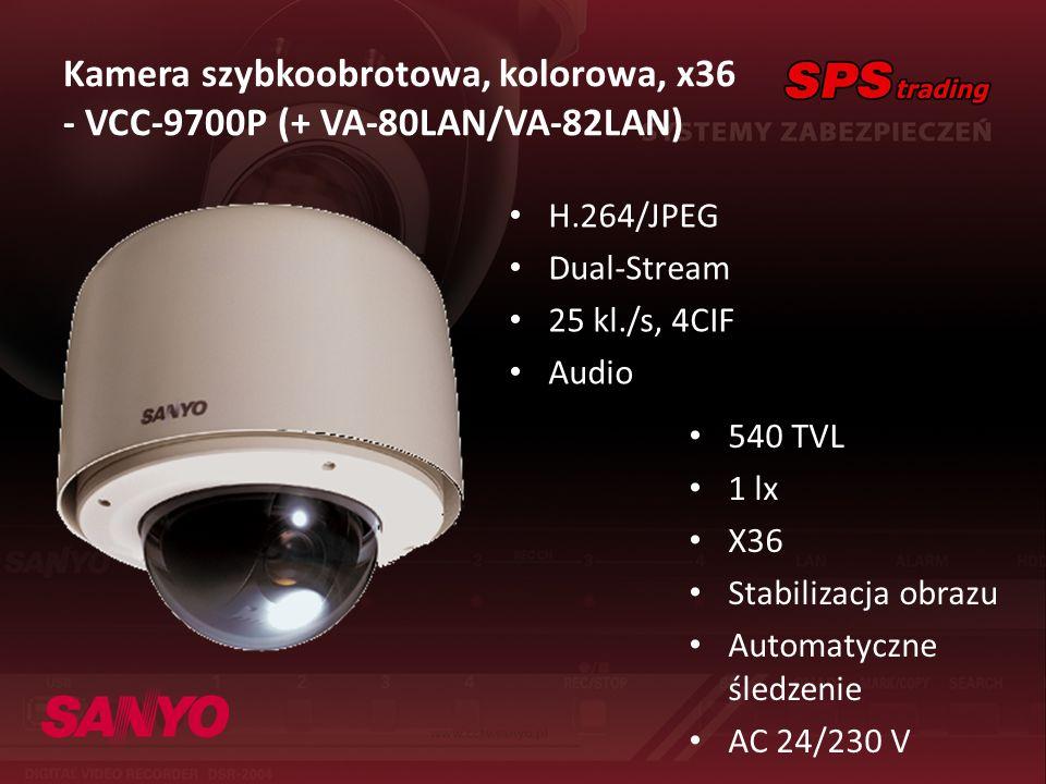 Kamera szybkoobrotowa, kolorowa, x36 - VCC-9700P (+ VA-80LAN/VA-82LAN)