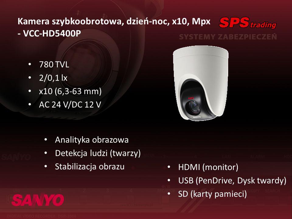 Kamera szybkoobrotowa, dzień-noc, x10, Mpx - VCC-HD5400P