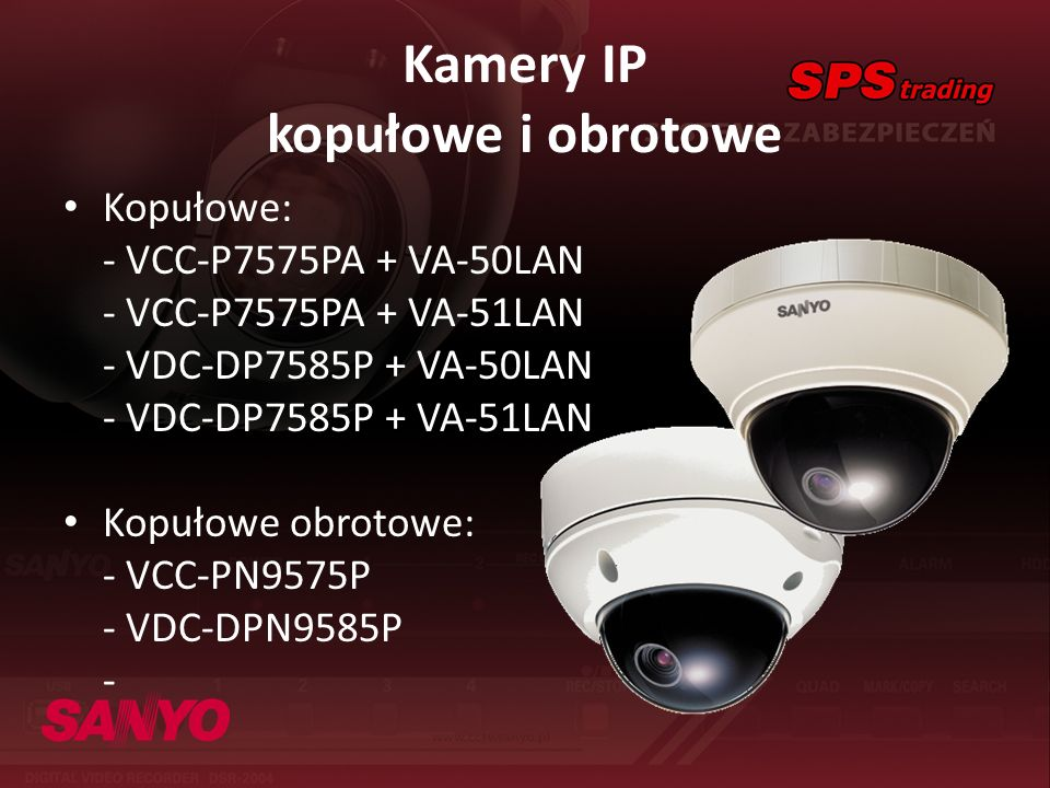 Kamery IP kopułowe i obrotowe