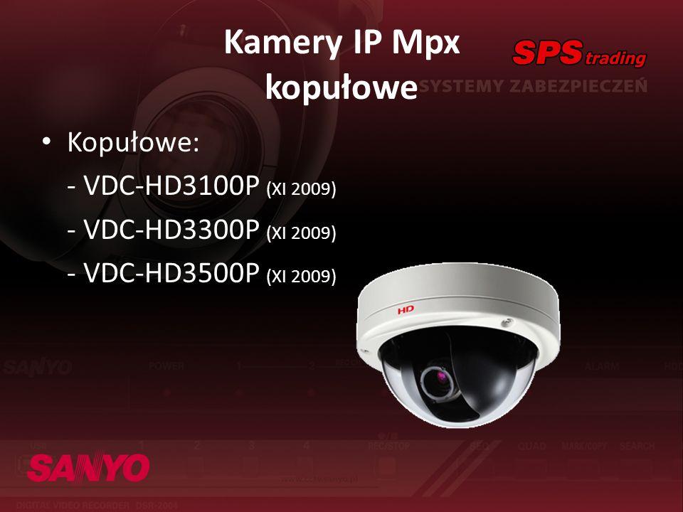 Kamery IP Mpx kopułowe Kopułowe: - VDC-HD3100P (XI 2009)