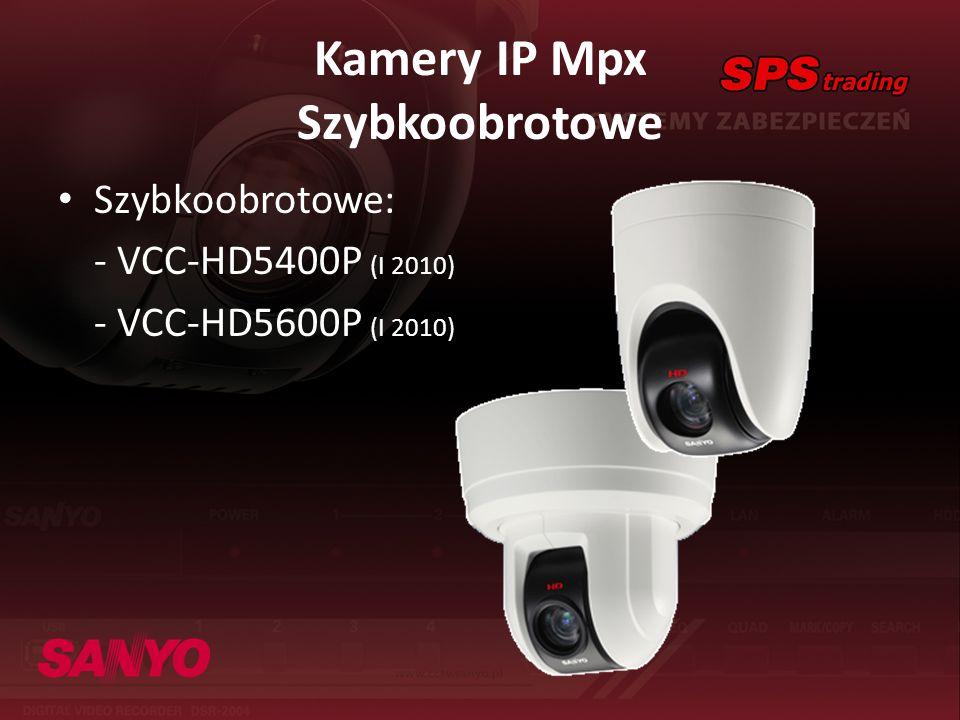 Kamery IP Mpx Szybkoobrotowe