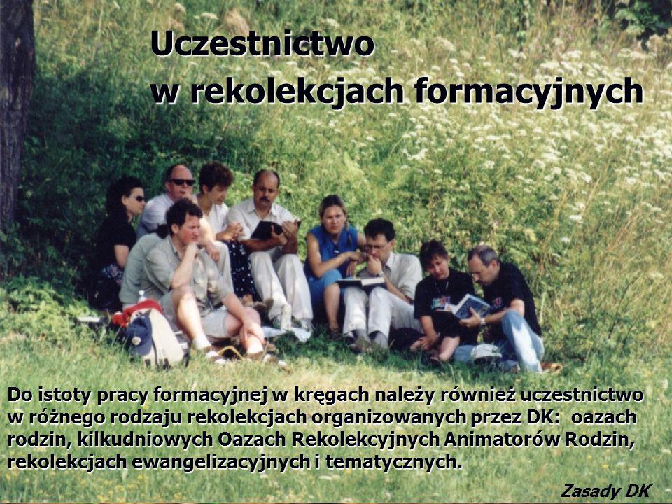 Uczestnictwo w rekolekcjach formacyjnych