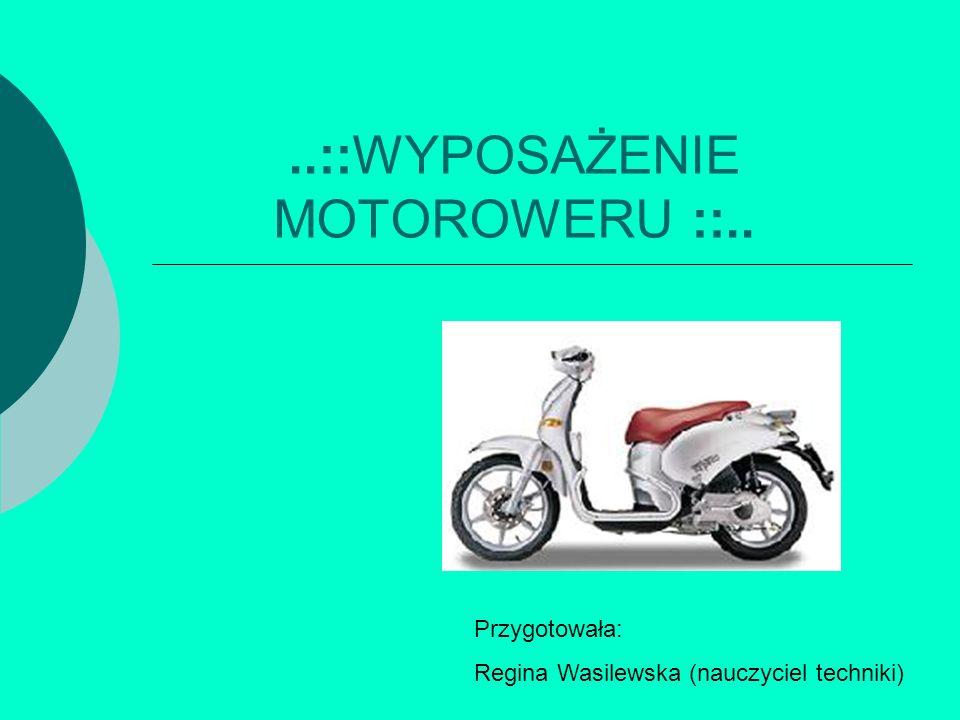 ..::WYPOSAŻENIE MOTOROWERU ::..