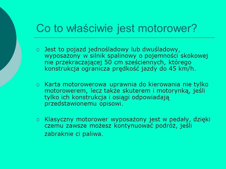 Co to właściwie jest motorower