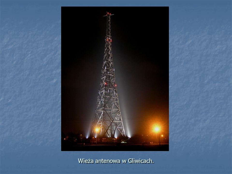 Wieża antenowa w Gliwicach.