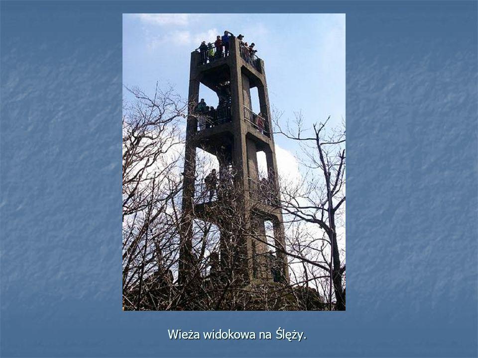 Wieża widokowa na Ślęży.