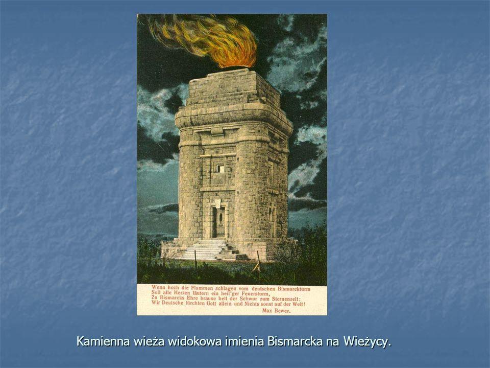 Kamienna wieża widokowa imienia Bismarcka na Wieżycy.