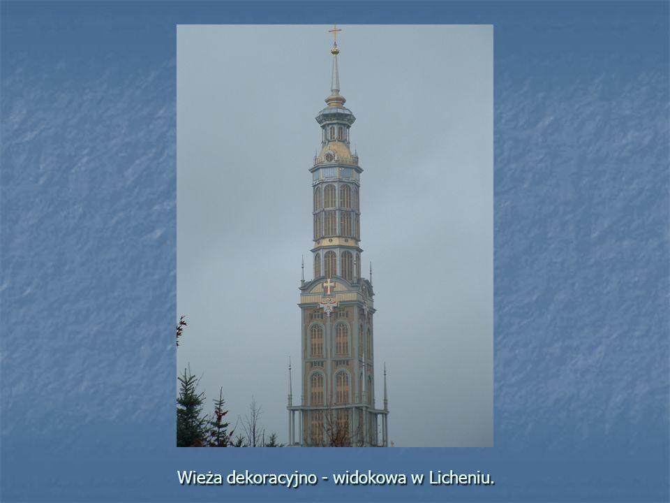 Wieża dekoracyjno - widokowa w Licheniu.
