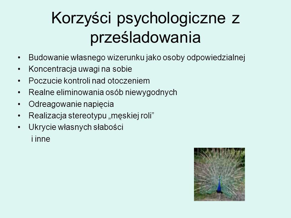 Korzyści psychologiczne z prześladowania