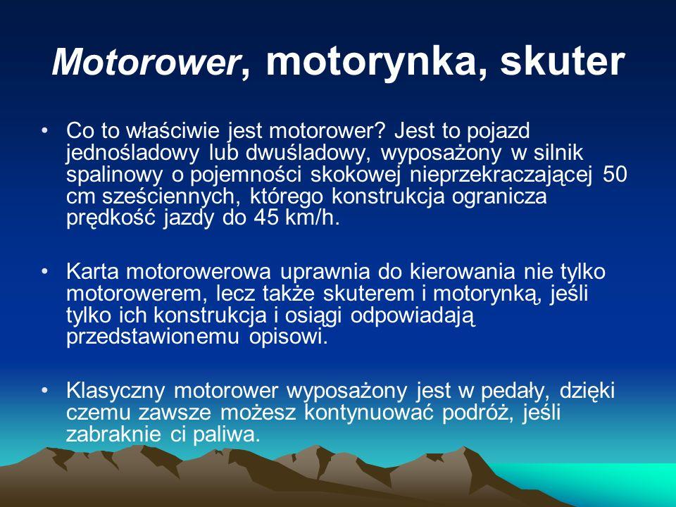 Motorower, motorynka, skuter