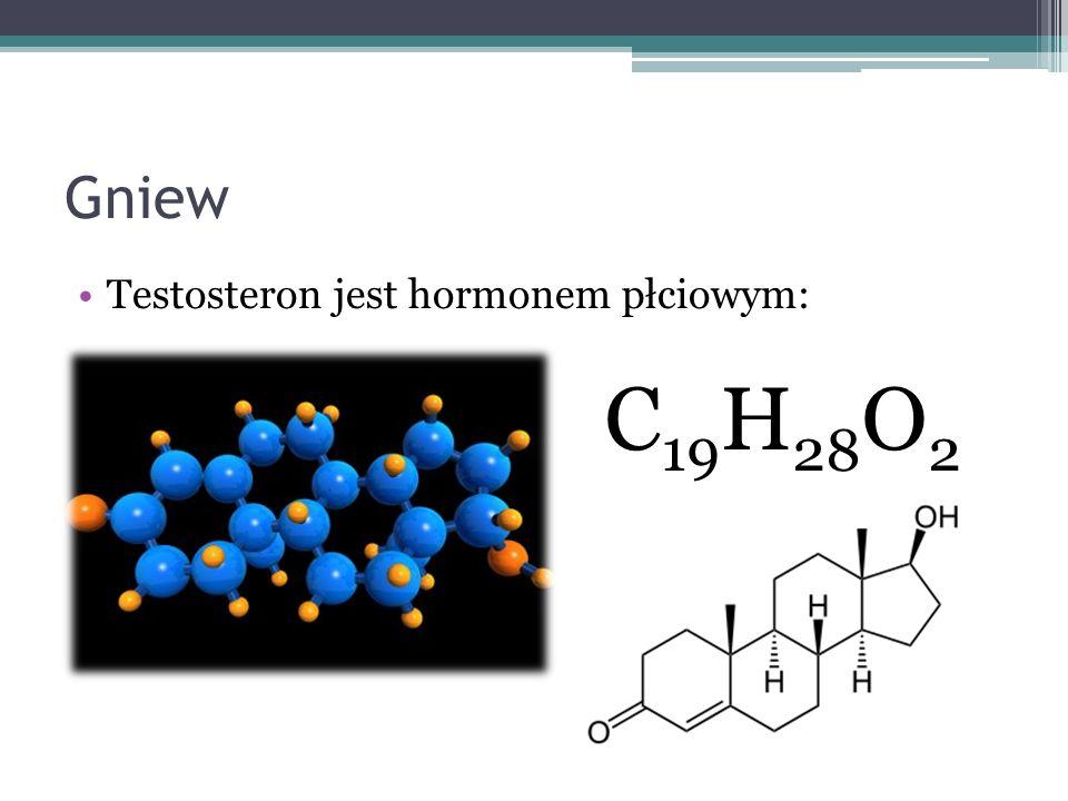 Gniew Testosteron jest hormonem płciowym: C19H28O2