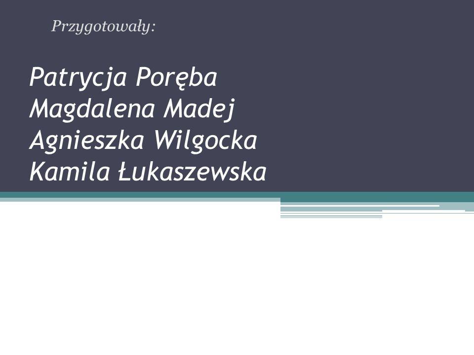 Patrycja Poręba Magdalena Madej Agnieszka Wilgocka Kamila Łukaszewska