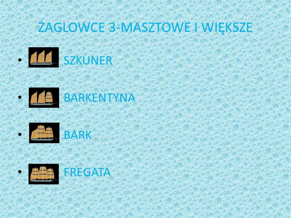 ŻAGLOWCE 3-MASZTOWE I WIĘKSZE