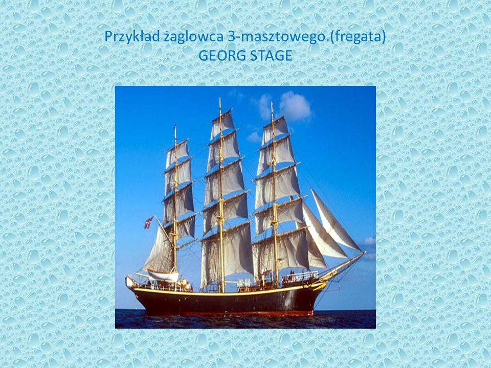 Przykład żaglowca 3-masztowego.(fregata) GEORG STAGE