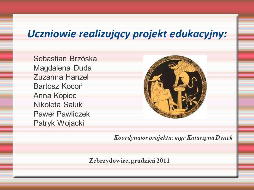 Uczniowie realizujący projekt edukacyjny: