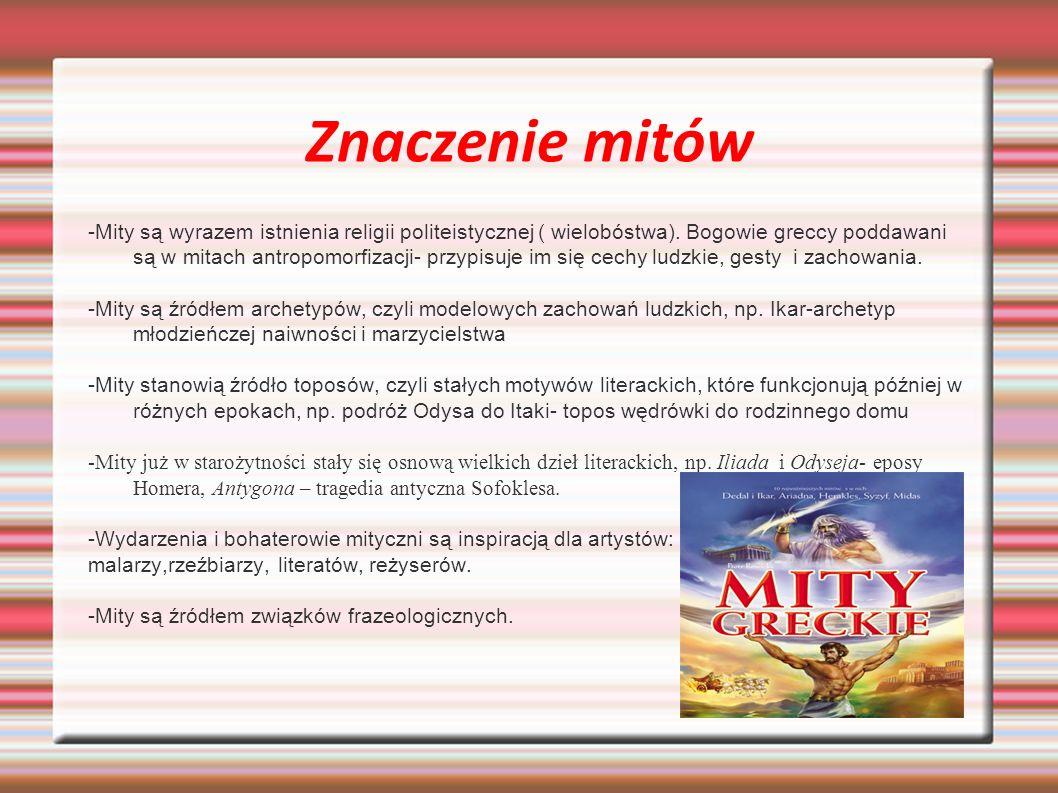Znaczenie mitów