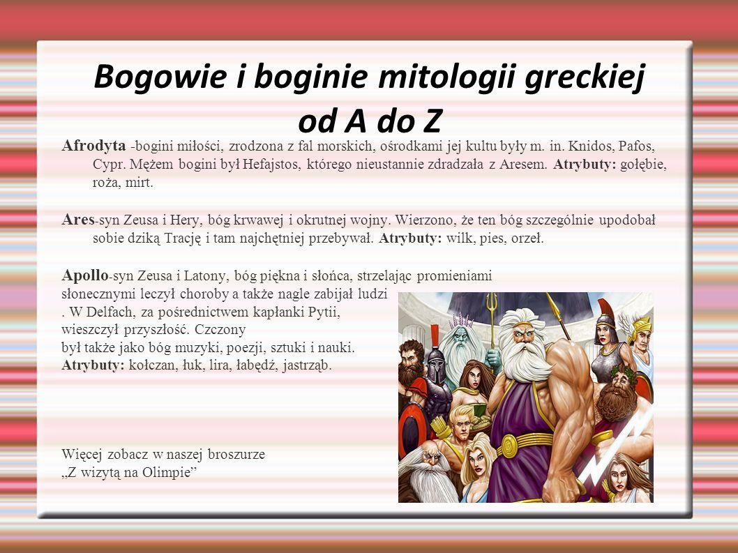 Bogowie i boginie mitologii greckiej od A do Z