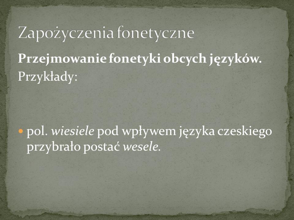 Zapożyczenia fonetyczne