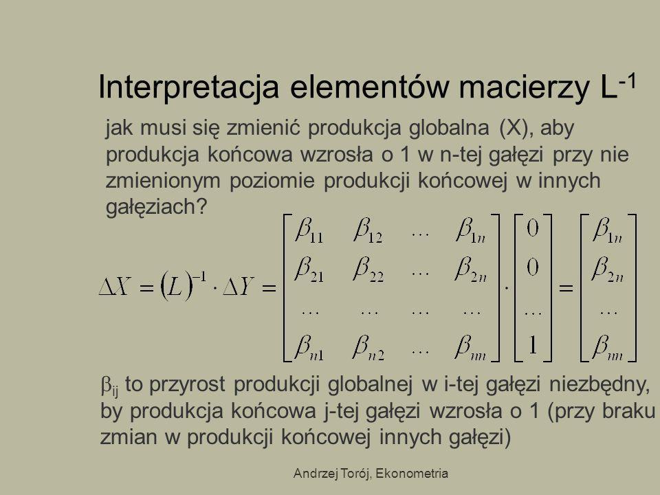 Interpretacja elementów macierzy L-1