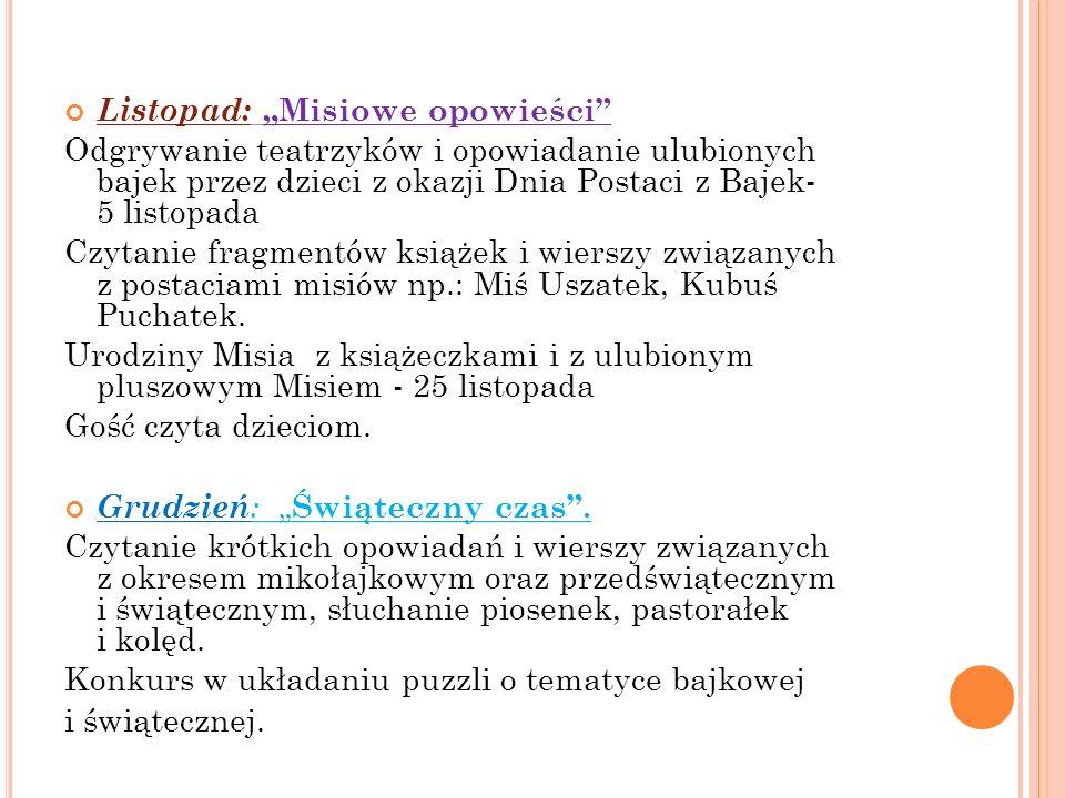 """Listopad: """"Misiowe opowieści"""
