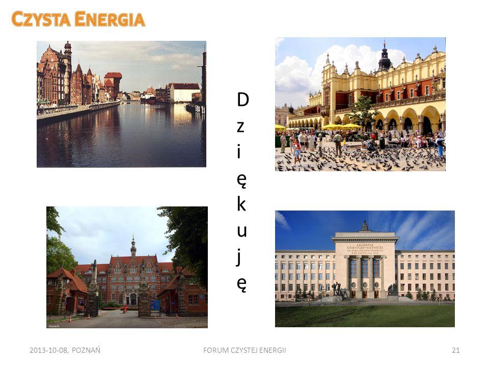 Dz ięku j ę 2013-10-08, POZNAŃ FORUM CZYSTEJ ENERGII
