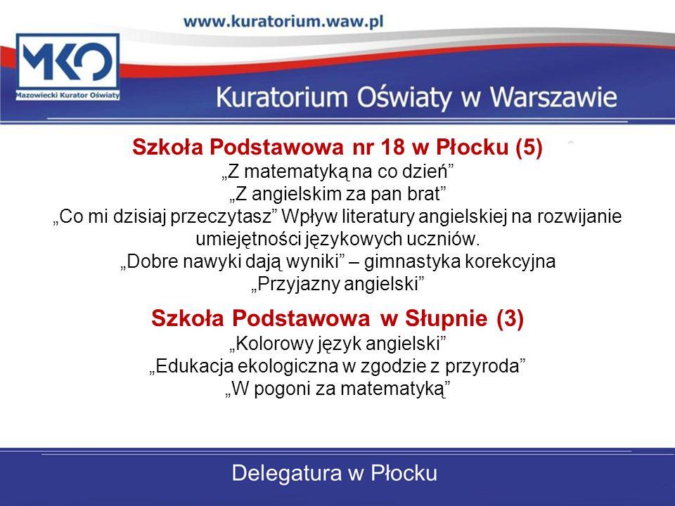 Szkoła Podstawowa nr 18 w Płocku (5) Szkoła Podstawowa w Słupnie (3)