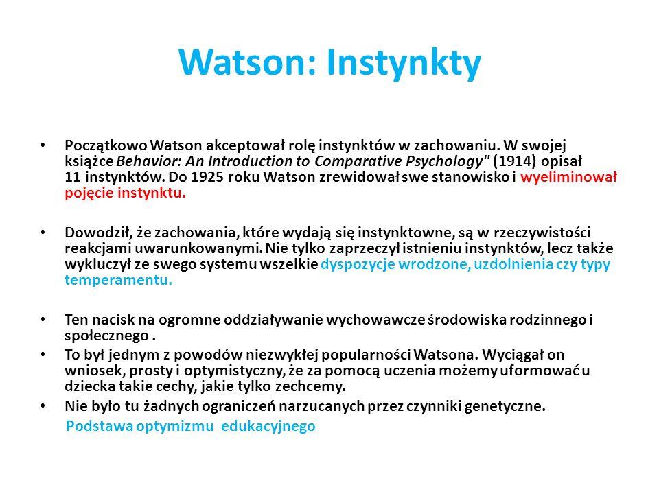 Watson: Instynkty