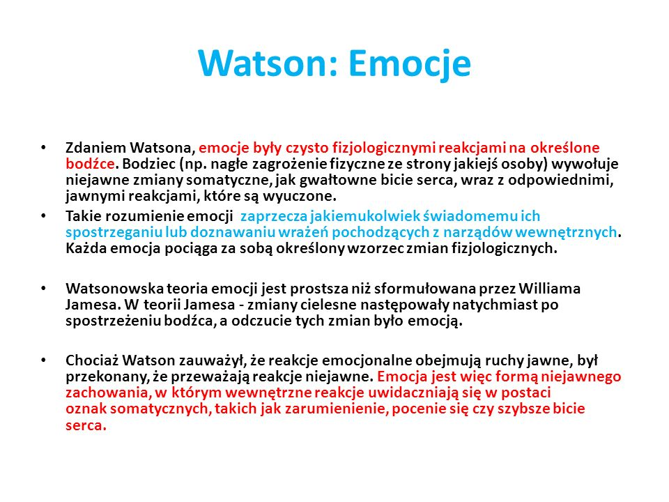 Watson: Emocje