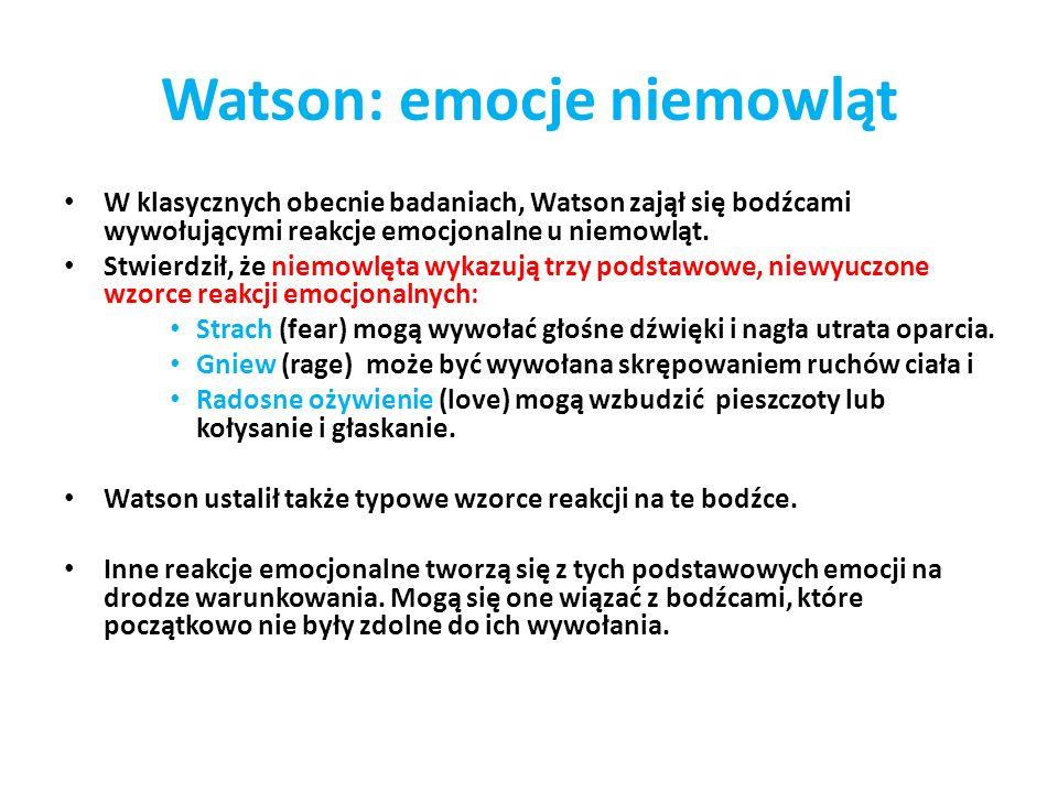 Watson: emocje niemowląt