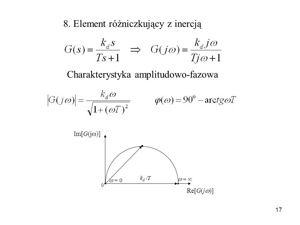 8. Element różniczkujący z inercją