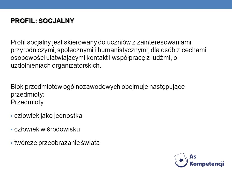 PROFIL: SOCJALNY