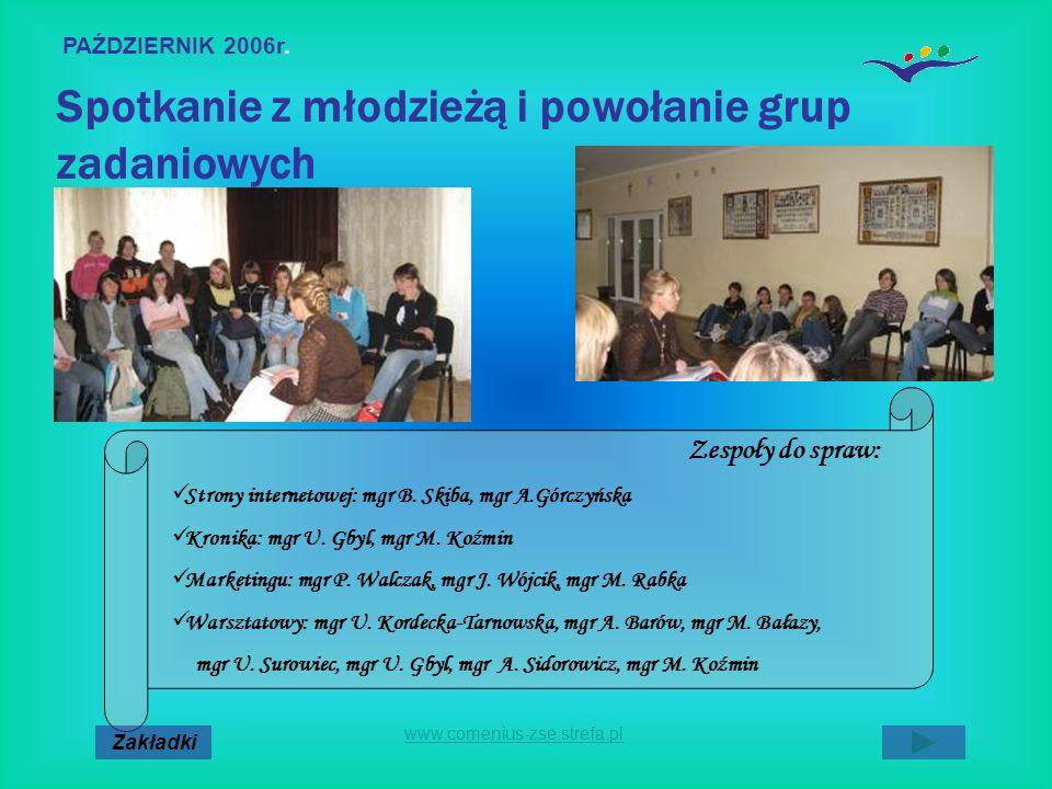 Spotkanie z młodzieżą i powołanie grup zadaniowych