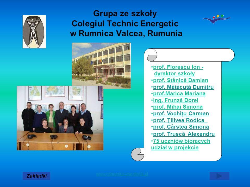 Grupa ze szkoły Colegiul Technic Energetic w Rumnica Valcea, Rumunia