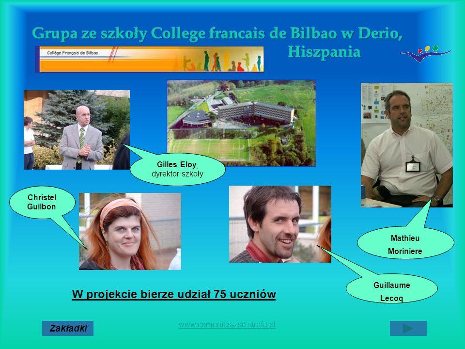 Grupa ze szkoły College francais de Bilbao w Derio, Hiszpania