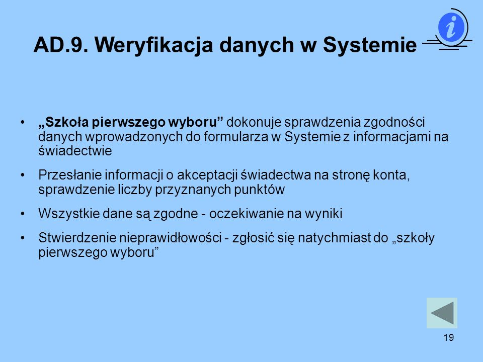 AD.9. Weryfikacja danych w Systemie
