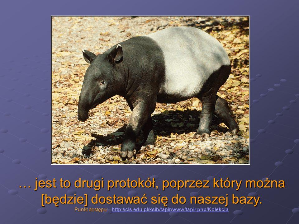 Punkt dostępu: http://cls.edu.pl/ksib/tapir/www/tapir.php/Kolekcja
