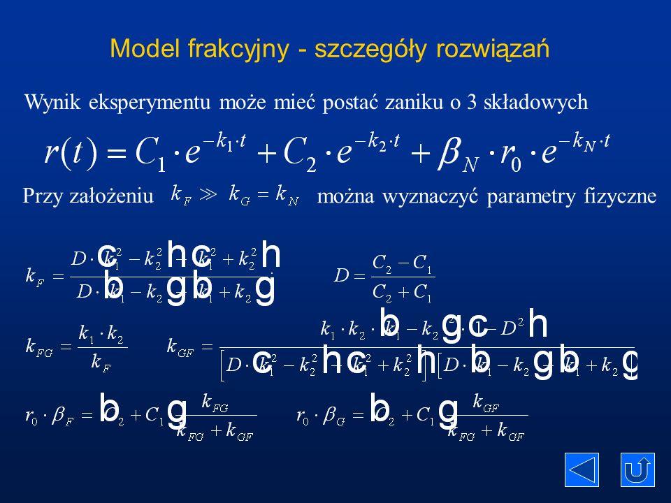Model frakcyjny - szczegóły rozwiązań