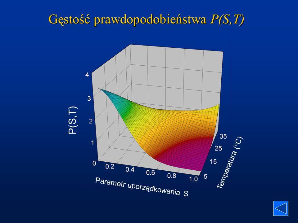 Gęstość prawdopodobieństwa P(S,T)