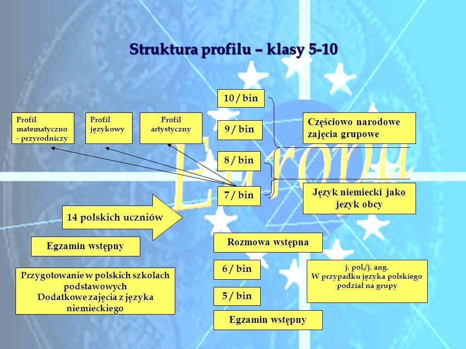 Struktura profilu – klasy 5-10