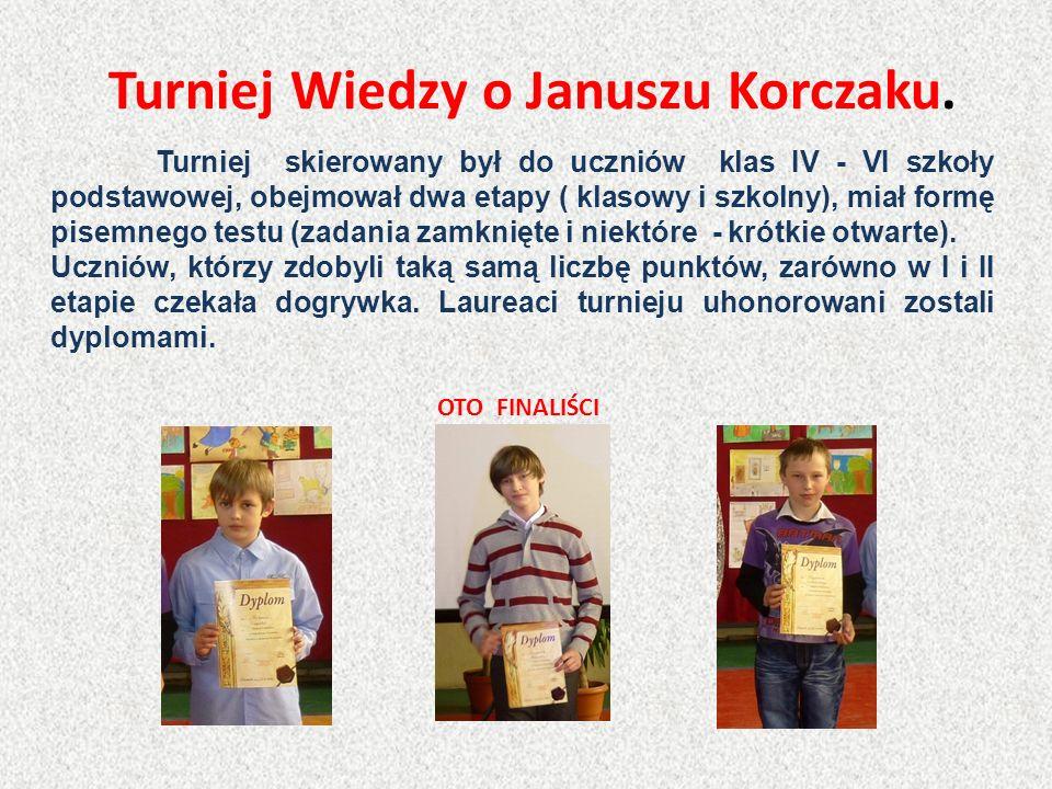 Turniej Wiedzy o Januszu Korczaku.