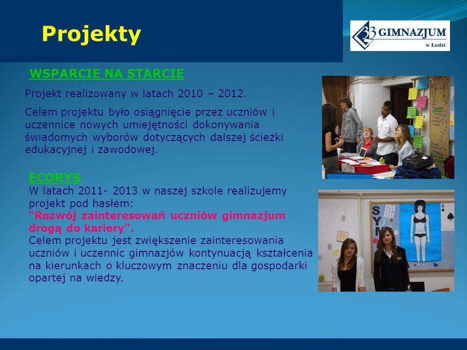 Projekty WSPARCIE NA STARCIE ECORYS