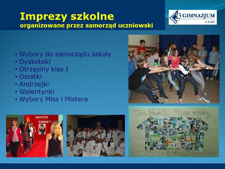 Imprezy szkolne organizowane przez samorząd uczniowski