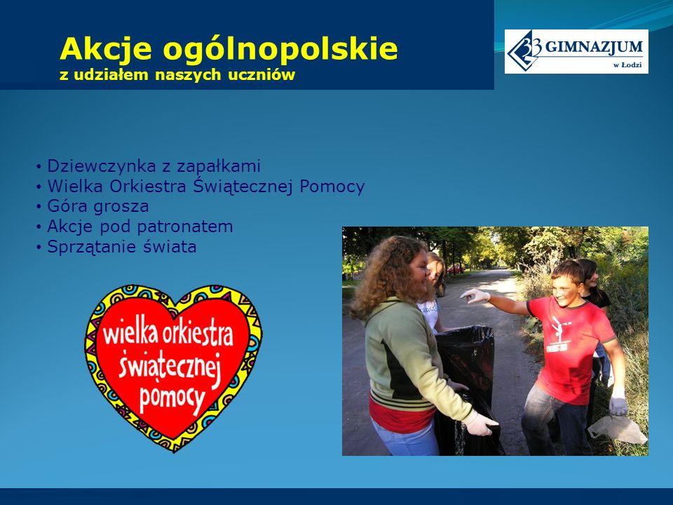 Akcje ogólnopolskie z udziałem naszych uczniów