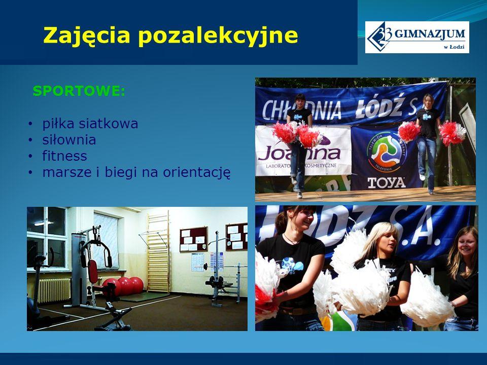 Zajęcia pozalekcyjne SPORTOWE: piłka siatkowa siłownia fitness