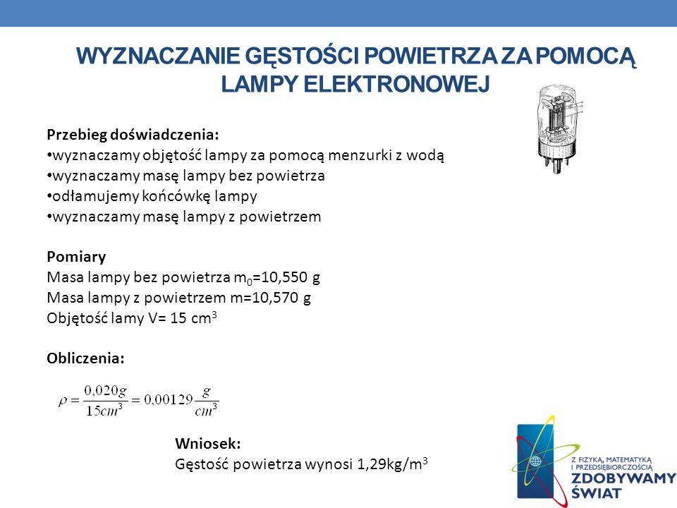 Wyznaczanie gęstości powietrza za pomocą lampy elektronowej